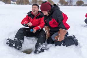 Ice-fishing-fun-Kemi-Taxari-Travel-Lapland